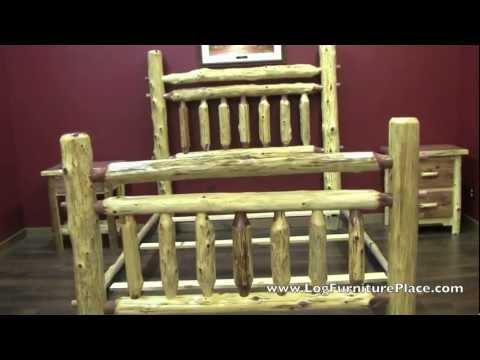 Red Cedar Arkansas Post Log Bed from LogFurniturePlace.com