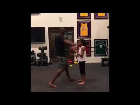 Kobe Bryant Playing Basketball With his Daughter | FULL VIDEO