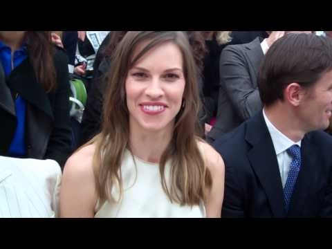 Edward Aydin interview Hilary Swank Milan Feb 2014 Pt 1