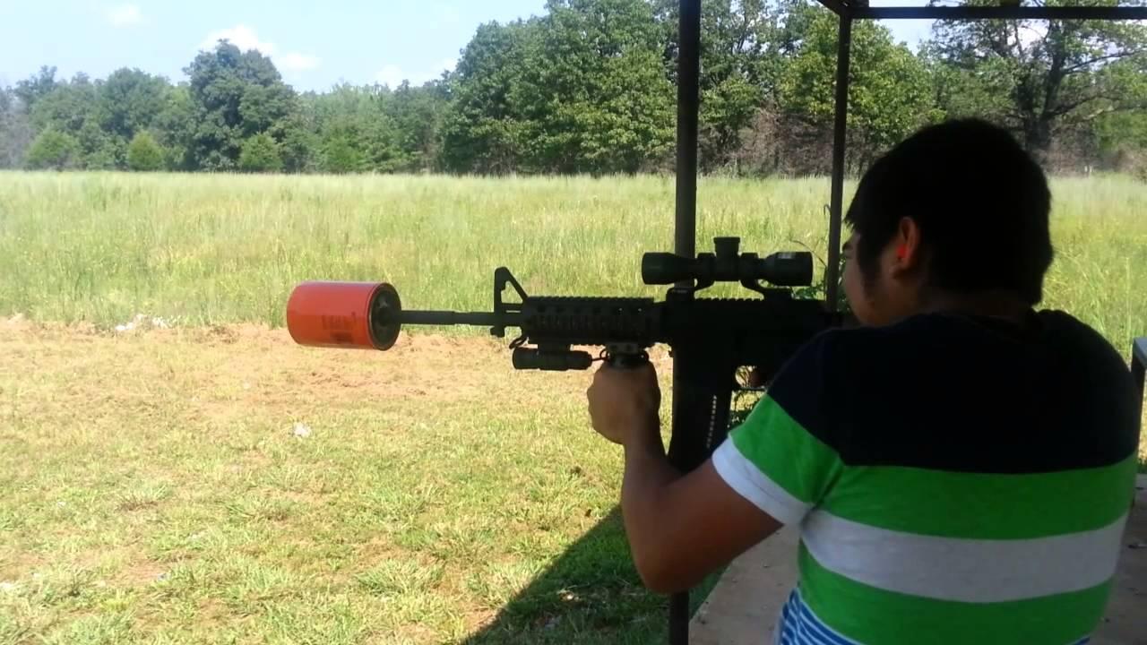 AR 15 oil can suppressor YouTube