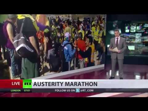 BBC Silent - Thousands of anti-austerity protesters converge on Madrid