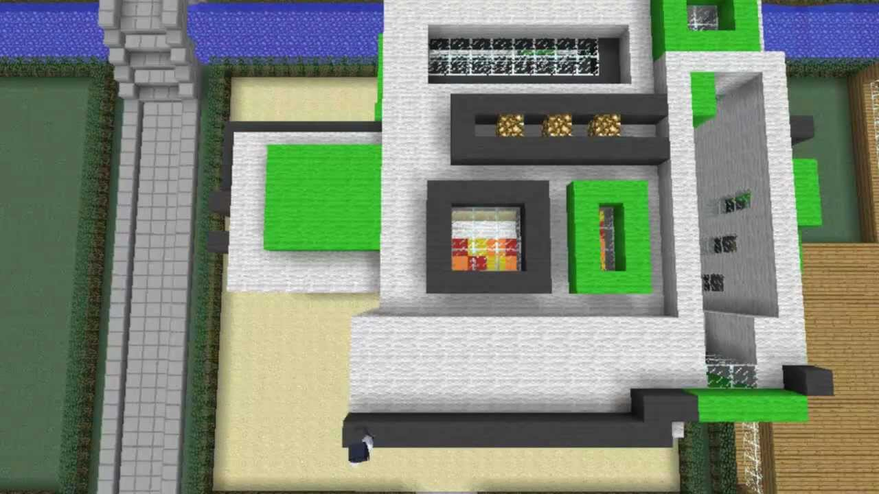 Minecraft bauanleitung modernhouse youtube