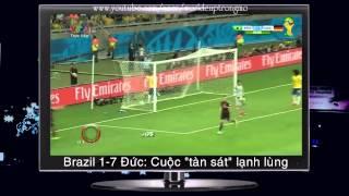 """Brazil 1-7 Đức: Cuộc """"tàn sát"""" lạnh lùng"""