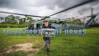 A Força Aérea Brasileira (FAB) está atuando nas eleições 2018 com o transporte de urnas, mesários e agentes de segurança a locais de difícil acesso nos Estados do Acre e de Roraima, incluindo áreas de fronteira norte, com a Guiana Francesa e a Venezuela; e da fronteira oeste, com a Bolívia e o Peru. Três helicópteros H-60L Black Hawk  do Esquadrão Harpia (7º/8º GAV) estão envolvidos na missão.
