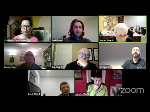 Plattsburgh Planning Board Meeting (Pre-Meeting and Regular Meeting)  2-22-21