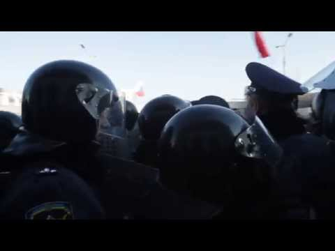 Ukraine 30 March: Pro-Russian Anti-Maidan Activists in #Donetsk blocked railway station (shot1)
