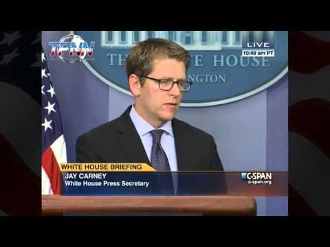 Obama mouth piece Jay Carney cant handle tough questions