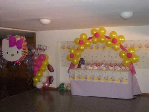 Decoracion con globos jannett youtube - Decoracion de globos ...