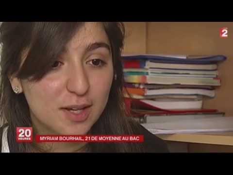 مريم ، الحاصلة على أعلى معدل في فرنسا
