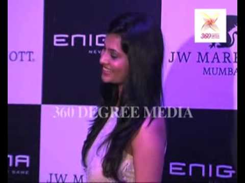 Sexy Actress Sayali Bhagat poses in a beige dress at the re-launchh of 'Enigma'