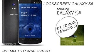 Lockscreen-Bloqueo De Pantalla Del Samsung Galaxy S5 En
