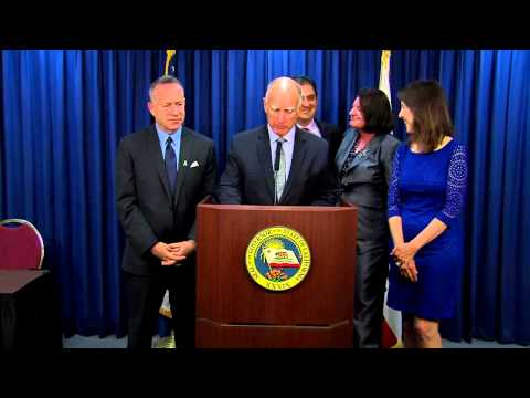 Governor Brown Signs State Budget in San Diego