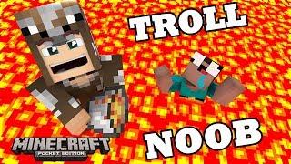 NOOB BỊ CHÔN DƯỚI HẦM MỎ LAVA (Noob sinh tồn trong Minecraft PE)  #3