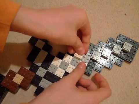lego minecraft iron sword tutorial youtube