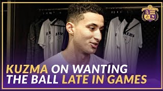 Lakers Post Game: Kyle Kuzma On Wanting the Ball in Late Game Situations