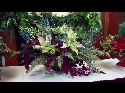 Artificial christmas flower arrangements decorating for christmas