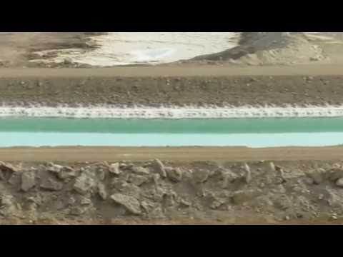 The artificial canal that connects the two parts of The Dead Sea