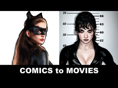 The Dark Knight Rises 2012 - Anne Hathaway is Catwoman!  From Comics to Trailer to Movie!