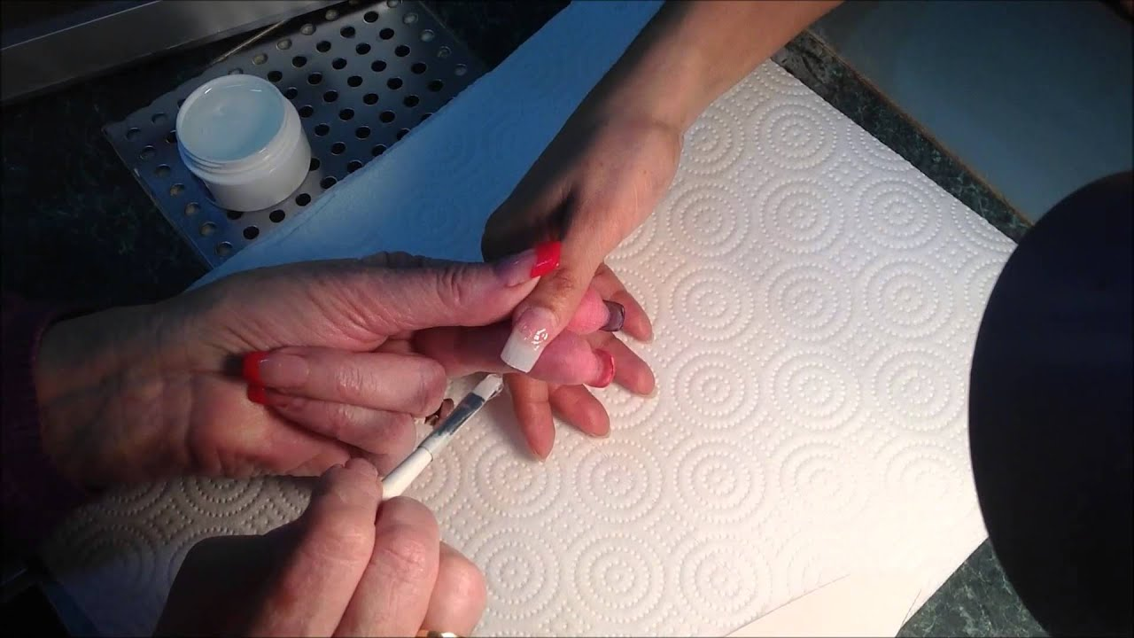 Sheba Nails UV Gel Nail Tip Application Video - YouTube