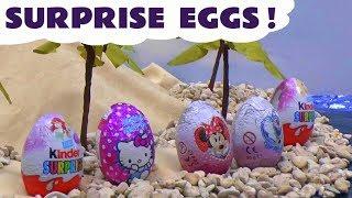 Kinder Princess Ariel Mermaid Surprise Eggs Barbie Frozen Play Doh Disney Princess Minnie Mouse