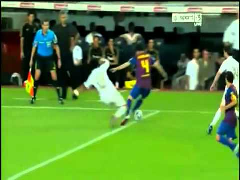 Barcelona vs Real Madrid 3 2 All Fight   Marcelo, Villa, Ozil Red Cards Marcelo crazy tackle