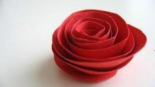 Haciendo rosas de papel, fácil y rápido