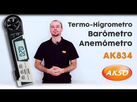 Termo-Higroanemômetro Barômetro - AK834