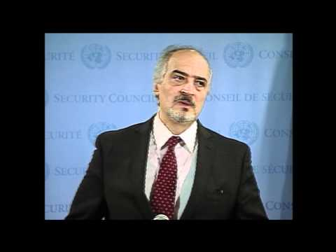 WorldLeadersTV: SYRIAN CEASEFIRE: UN SECURITY COUNCIL: KOFI ANNAN, RUSSIA, CHINA, USA, 12 April