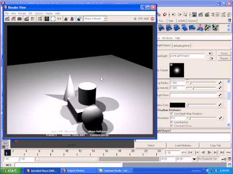 Maya Basic Lighting Tutorials,3D Lighting Tutorials,Maya Tutorials