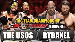 WWE RAW 28/4/2014 The Usos Vs RybAxel (WWE Tag Team