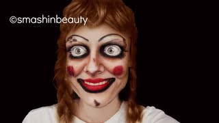 The Conjuring Annabelle The Doll Halloween Makeup Tutorial