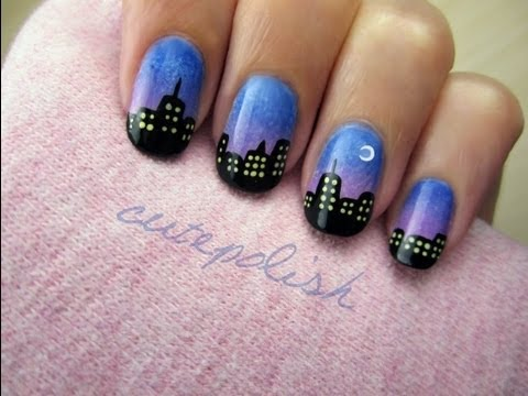 City Skyline Nails, Share your recreations with other CutePolish fans at http://www.facebook.com/cutepolish Have you seen CutePolish's newest official Disney design? It's Perry ...