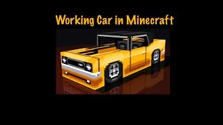Working Car In Minecraft With No Mods For Single Player