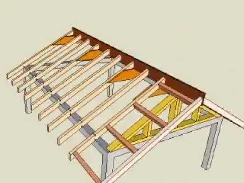 3d Gable Roof Frame With Music Youtube