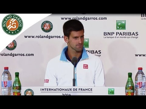 Press conference N.Djokovic 2014 French Open SF