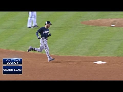 Lucroy hits grand slam for his second dinger