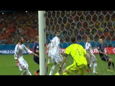 Spain vs Netherlands 1 5 ~ All Goals and Highlights ~ World Cup 2014 HD