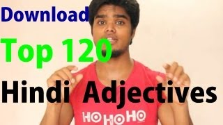 Download Top 120 Hindi Adjectives List