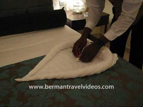 How To Fold A Towel Swan Video By 866 934 6292 Berman