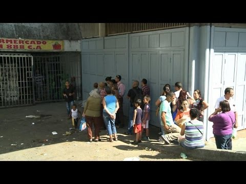 Venezuelans struggle with lack of basic foodstuffs and inflation