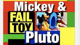 FAIL Disney Toy, Funny Pluto And Mickey Mouse Clubhouse