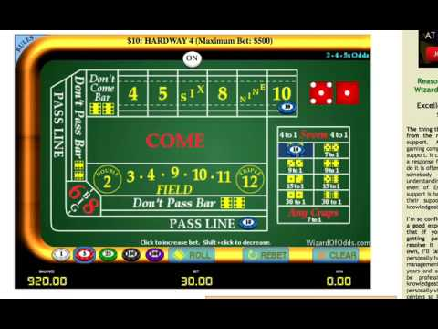 Standard craps strategy