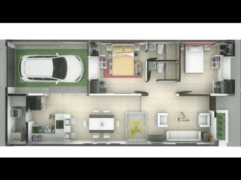 Casa de un piso 83m interiores minimalista 7m x 15m for Casas minimalistas interiores