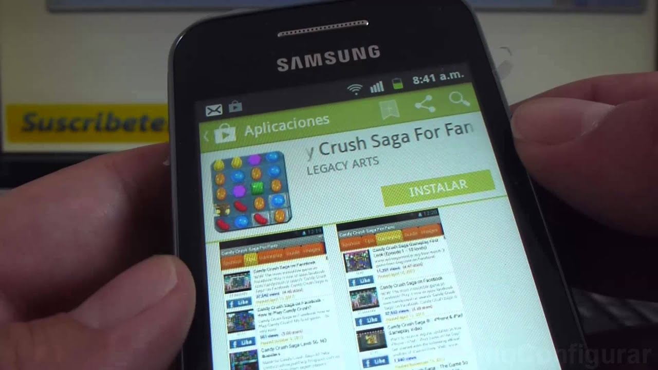why cant i download candy crush saga on samsung galaxy ace gt s5830i