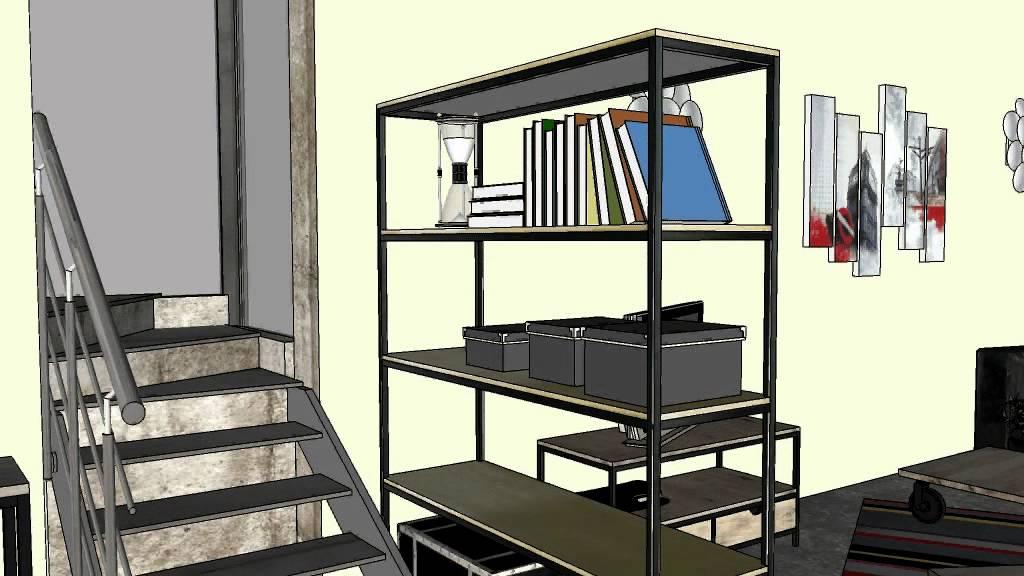 Loft am nager avec les meuble maisons du monde youtube - Frederic tabary ...