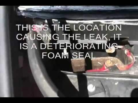 how to stop water leaking inside lincoln town car stop wet carpet youtube. Black Bedroom Furniture Sets. Home Design Ideas