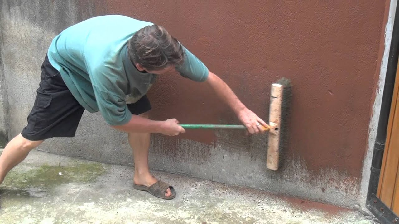 Painting Cement Walls With Clay Slip Part 1 Of 2 Youtube