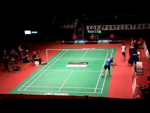 Dutch-Open-Badminton 2012  (op 4min byzonder mooi punt) Dicky Palyama(NL)-Emil Holst(Den).