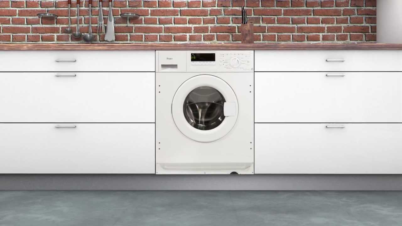 whirlpool built in washing machine awo c 0714 youtube. Black Bedroom Furniture Sets. Home Design Ideas