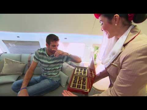 Del Potro in Emirates Executive A319 Private Jet | Emirates